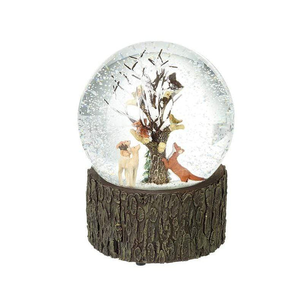 Heaven Sends Christmas Snow Globes, Christmas Decorations Woodland Animals Musical Snow Globe Christmas Decoration