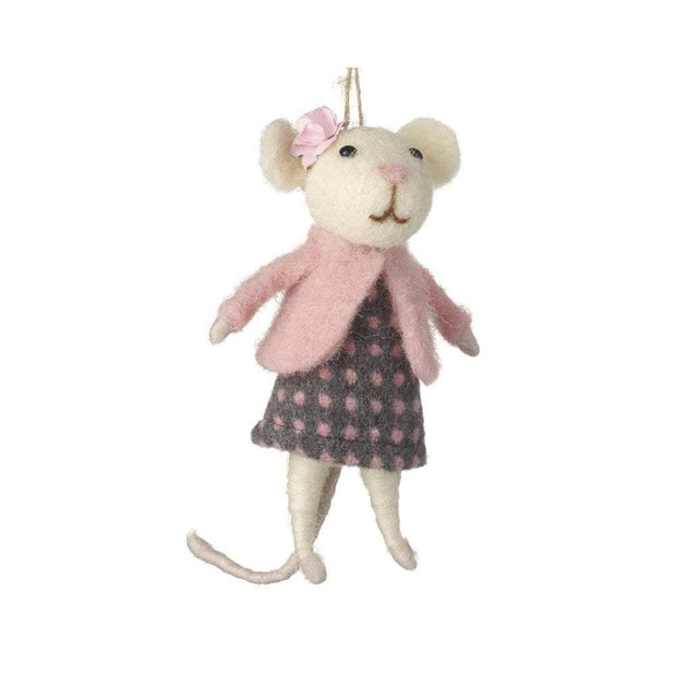 Heaven Sends Easter Decorations Hanging Lady Mouse Decoration with Pearl Detail