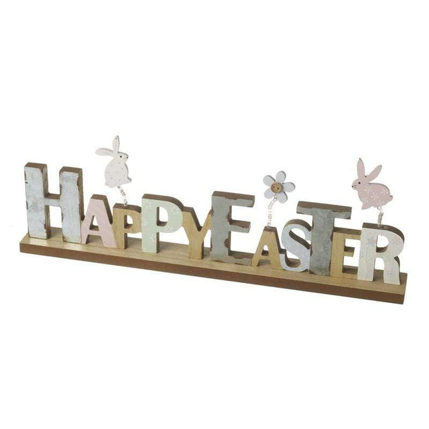 Heaven Sends Easter Decorations Pastel Wooden Happy Easter Mantel Decoration