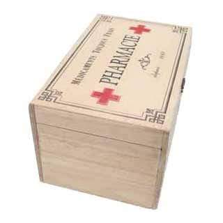 Heaven Sends Storage Tins, Trinket & keepsake Boxes Vintage Style Wooden Pharmacie Box