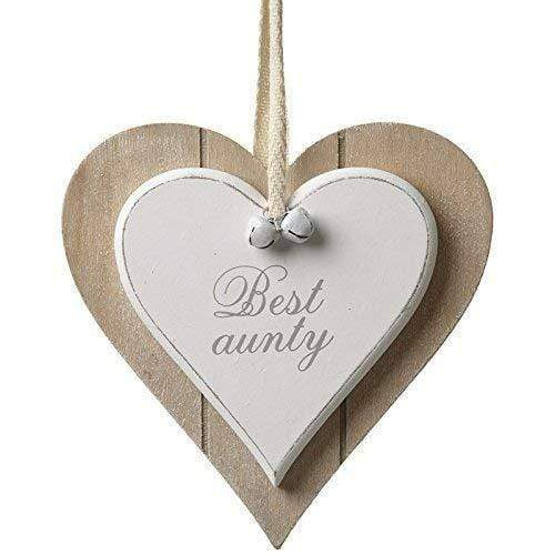 Heaven Sends Wall Signs & Plaques Heaven Sends Shabby Chic Heart Hanging Best Aunty Plaque