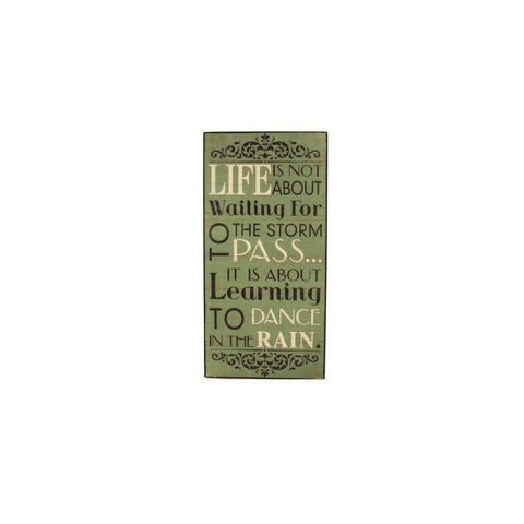 Heaven Sends Wall Signs & Plaques Life is not about Waiting for the Storm Wooden Sign