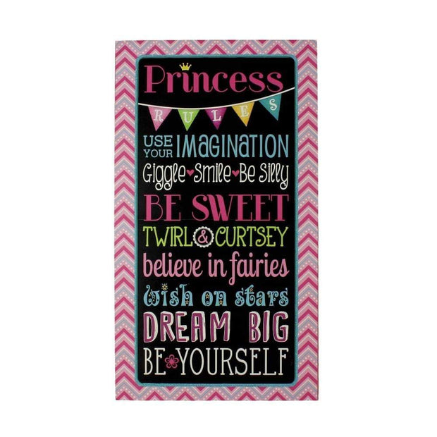 Heaven Sends Wall Signs & Plaques Princess Rules Wall Plaque