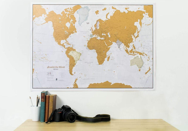 Lovell Johns Scratch map Scratch The World Map Wall Feature