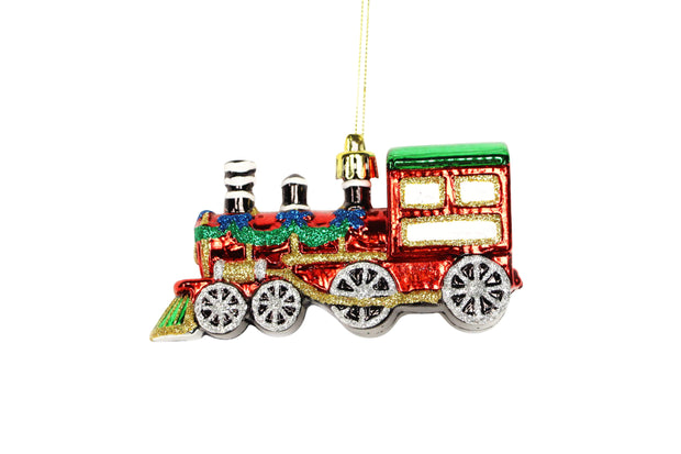 Mollie and Fred Gifts Christmas Decorations Coloured Acrylic Train Christmas Decoration
