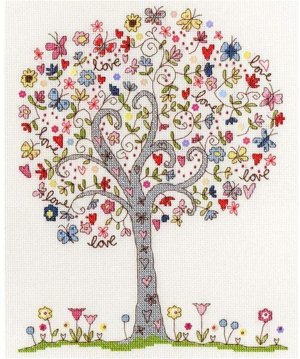 Mollie and Fred Gifts Craft Sets Love Tree Choice of Design Bothy Threads Cross Stitch Kits