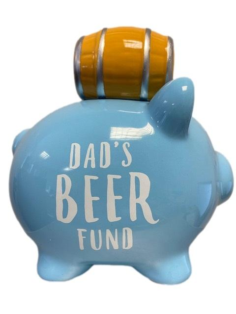 Mollie and Fred Gifts Dad's Beer Fund Piggy Bank