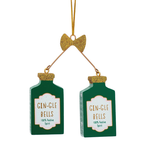 Mollie and Fred Gifts Gin-Gle Bells Christmas Tree Decorations