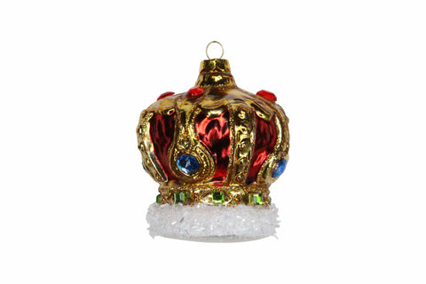 Mollie and Fred Gifts Jewelled Crown Christmas Decoration