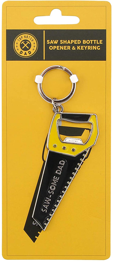 Mollie and Fred Gifts Saw Shaped Bottle Opener & Keyring