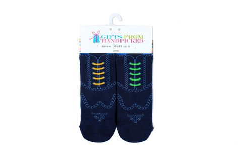 Mollie and Fred Socks Smart Brogue Socks