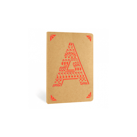 Portico Notebooks A Kraft Monogram Notebook - Choice of letters