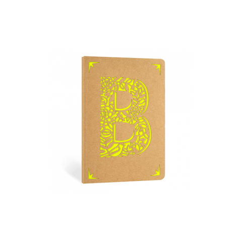 Portico Notebooks B Kraft Monogram Notebook - Choice of letters