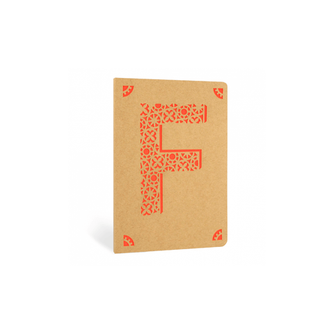 Portico Notebooks F Kraft Monogram Notebook - Choice of letters