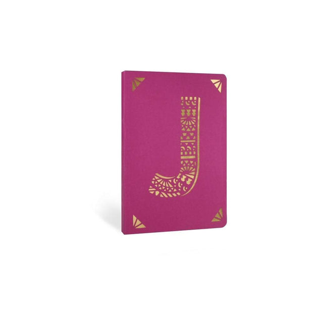 Portico Notebooks J Kraft Monogram Notebook - Choice of letters