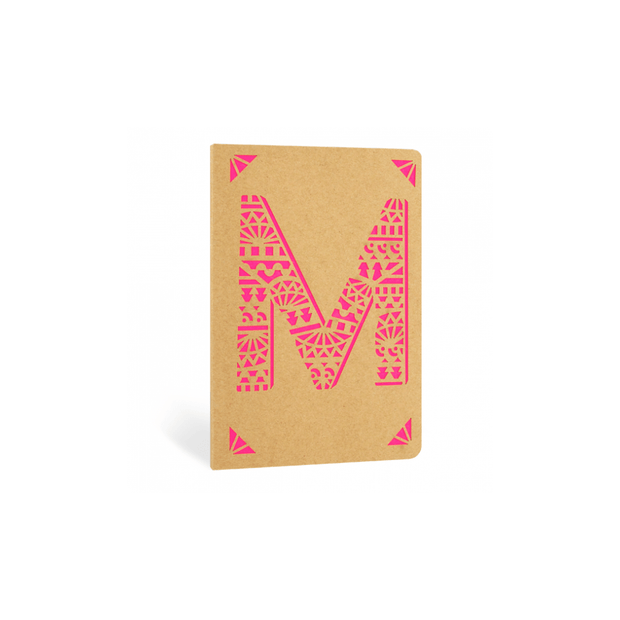Portico Notebooks M Kraft Monogram Notebook - Choice of letters