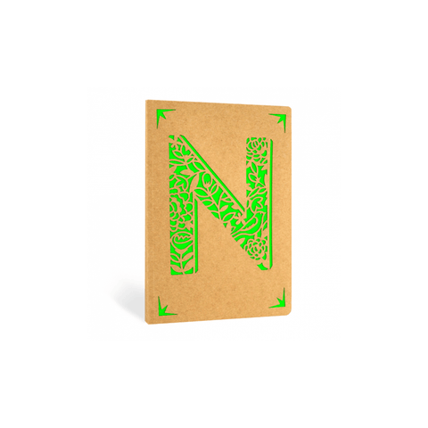 Portico Notebooks N Kraft Monogram Notebook - Choice of letters