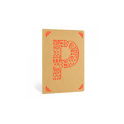 Portico Notebooks P Kraft Monogram Notebook - Choice of letters