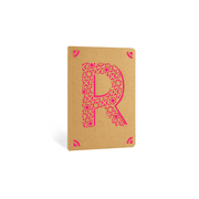 Portico Notebooks R Kraft Monogram Notebook - Choice of letters