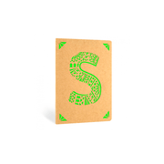 Portico Notebooks S Kraft Monogram Notebook - Choice of letters