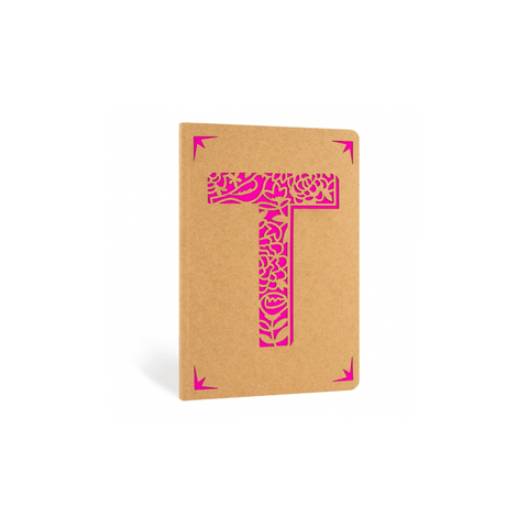 Portico Notebooks T Kraft Monogram Notebook - Choice of letters