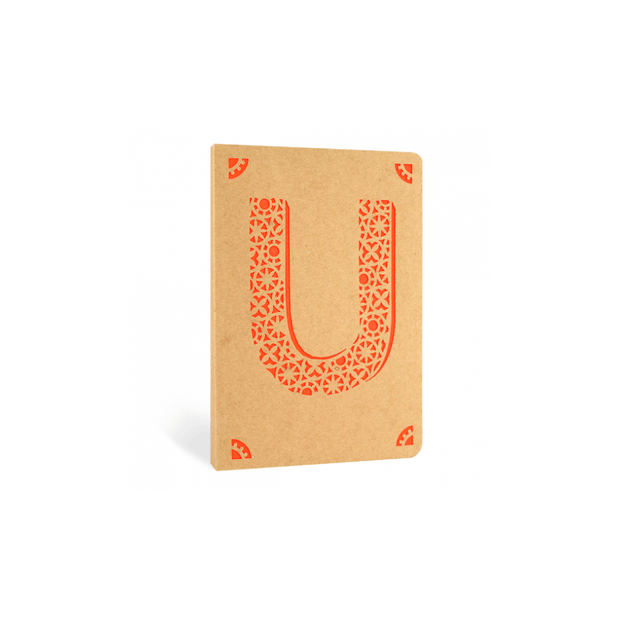 Portico Notebooks U Kraft Monogram Notebook - Choice of letters