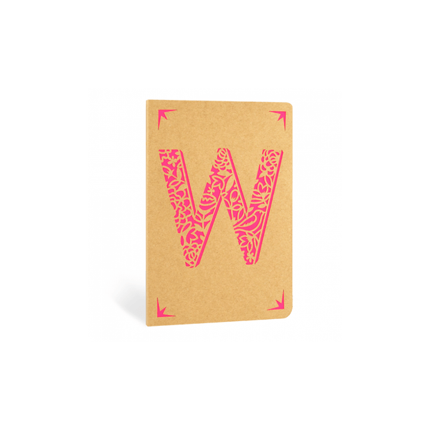 Portico Notebooks W Kraft Monogram Notebook - Choice of letters