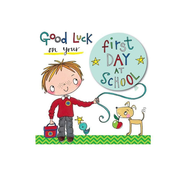 Rachel Ellen 'Good Luck on your First Day at School' Boys Card