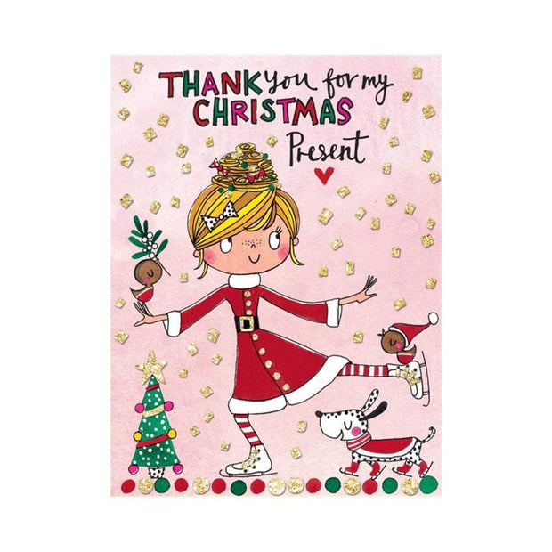Rachel Ellen Greetings Cards Girls Thank You For My Christmas Present Cards