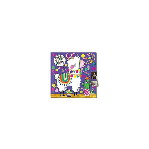 Rachel Ellen Journals Girls Llama Design Lockable Secret Diary