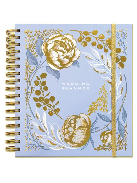 Rachel Ellen Planners Powder Blue Floral Design Wedding Planner