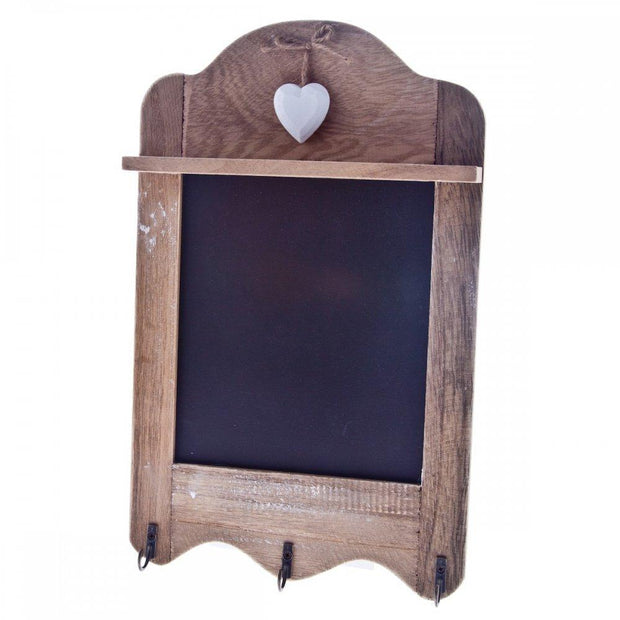 Sass & Belle Chalkboard Triple Hook Chalkboard with Heart Detail