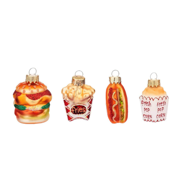 Sass & Belle Christmas Christmas Decorations Assorted Fast Food Shaped Baubles Christmas Decoration