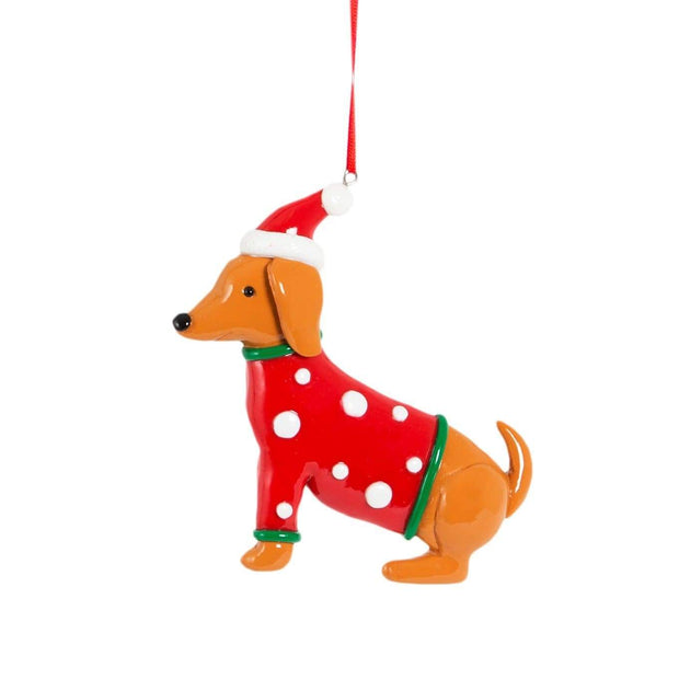 Sass & Belle Christmas Christmas Decorations Dachshund Hanging Christmas Tree Decoration
