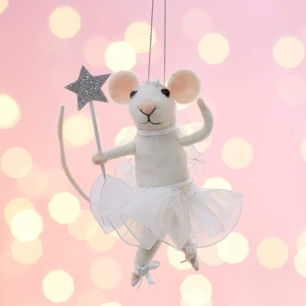 Sass & Belle Christmas Christmas Decorations Felt Fairy Mouse Hanging Christmas Tree Decoration