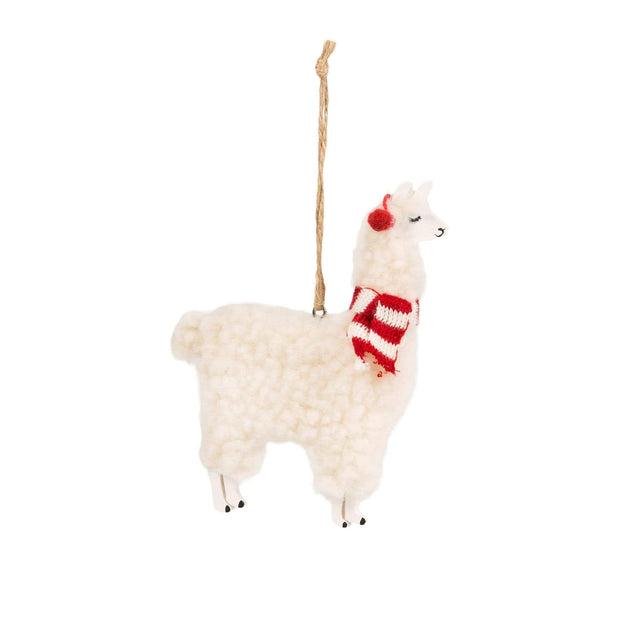 Sass & Belle Christmas Christmas Decorations Fluffy Llama Christmas Decoration