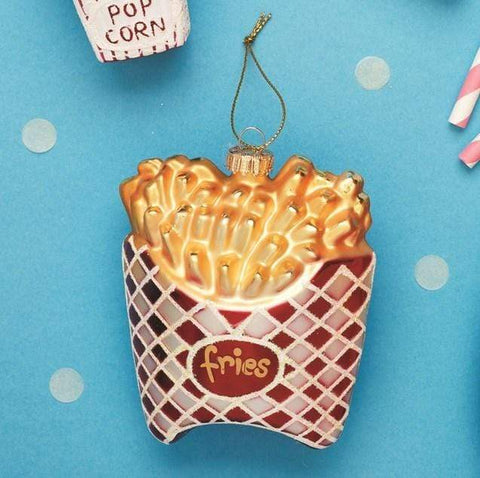 Sass & Belle Christmas Christmas Decorations French Fries Bauble Christmas Decoration