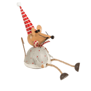 Sass & Belle Christmas Christmas Decorations Novelty Sitting Mouse Home Decoration