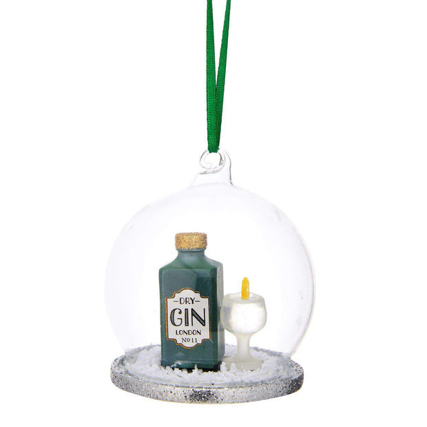 Sass & Belle Christmas Glassware, Christmas Decorations Christmas Cheer Gin and Tonic Dome Bauble