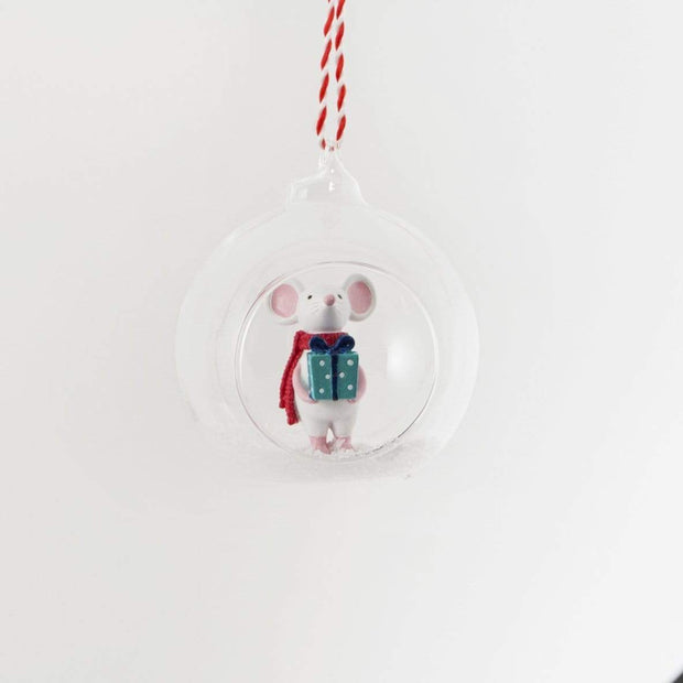 Sass & Belle Christmas Glassware, Christmas Decorations Christmas Gifting Mouse Open Bauble