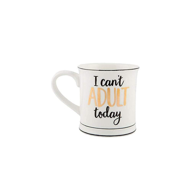 Sass & Belle Mugs & Drinkware I Cant Adult Today Metallic Monochrome Mug