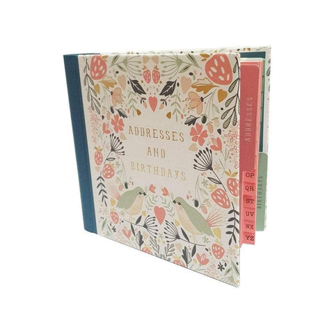The Artfile Stationary Notebooks Floral Birds Address and Birthday Book