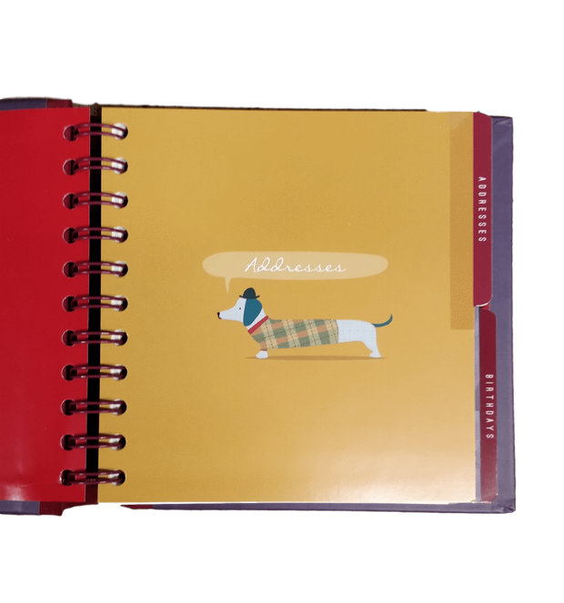 The Artfile Stationary Notebooks Sausage Dog Address And Birthday Book