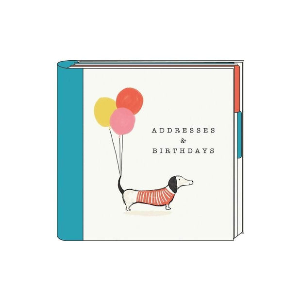 The Artfile Stationary Notebooks Sausage Dog Address And Birthday Card Book