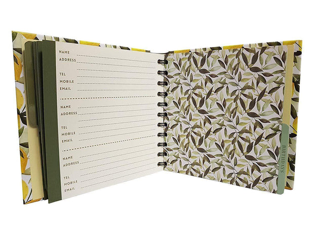 The Artfile Stationary Planners Orange and Lemons Address & Birthday Book