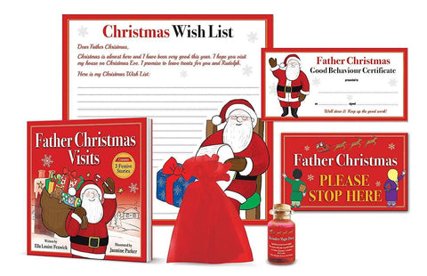 The Gift Box Company Advent Calendar Father Christmas Advent Gift Set for Children