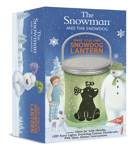 The Gift Box Company Craft Sets Make Your Own Snowdog Lantern - The Snowman and The Snowdog
