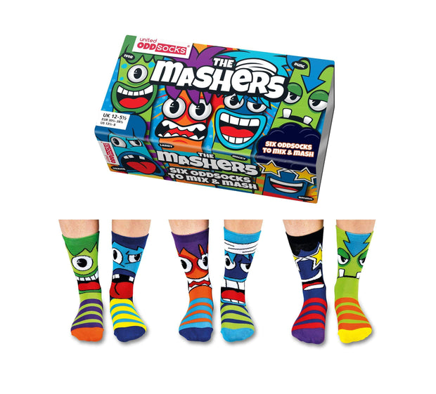 United Odd Socks Socks Mashers Oddsocks for Boys - Size 12 - 6