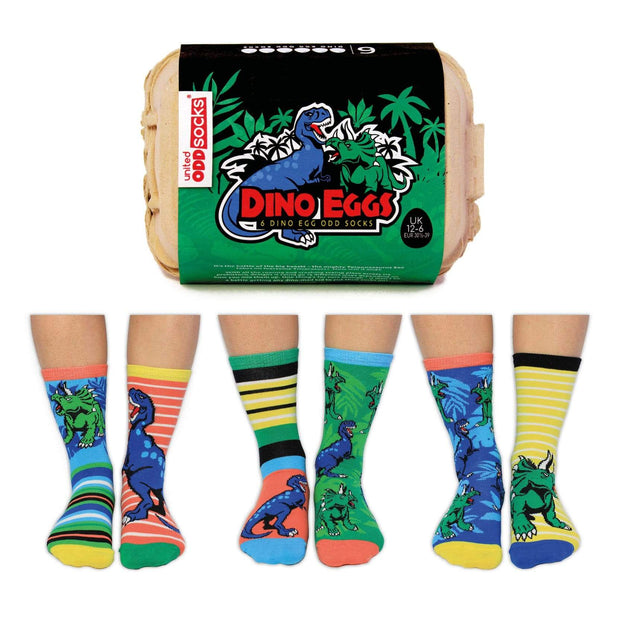 United Odd Socks Socks Boys Dino Eggs Novelty Socks - Size 12-6