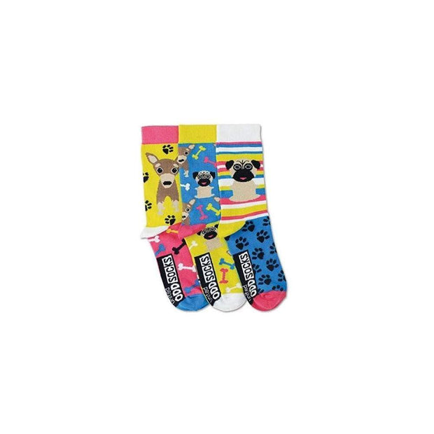 United Odd Socks Socks Girls Pug Oddsocks - Size 12-5.5